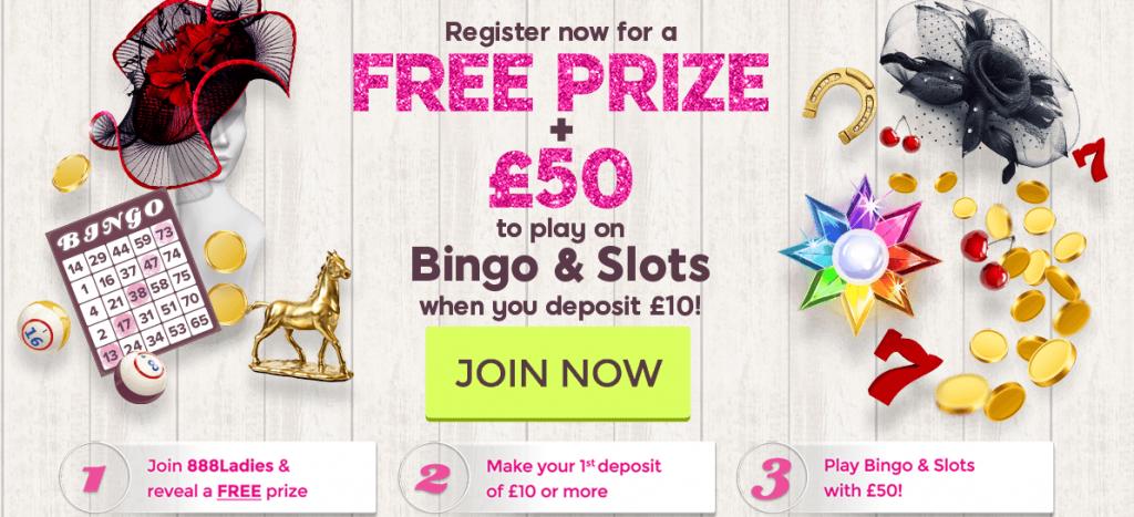 888 ladies bingo bonus